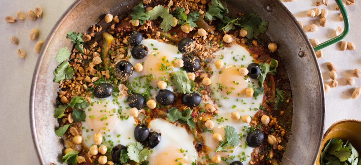 Spicy Eggs with Smoked Peanuts