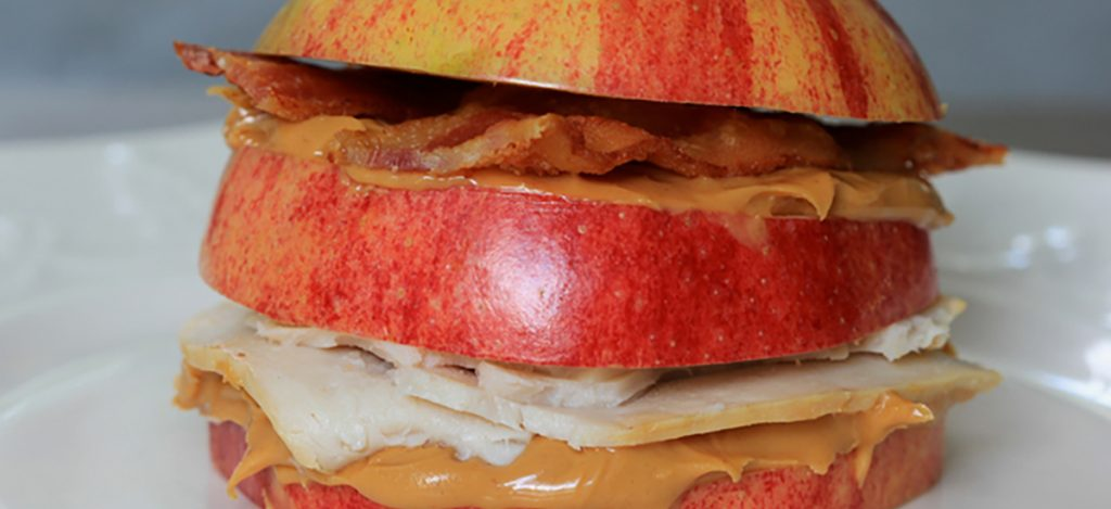 Apple-Bacon Peanut Butter Stacks