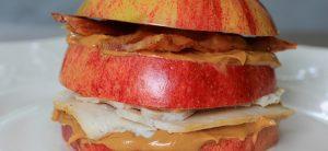 Apple-Bacon Peanut Butter Stacks