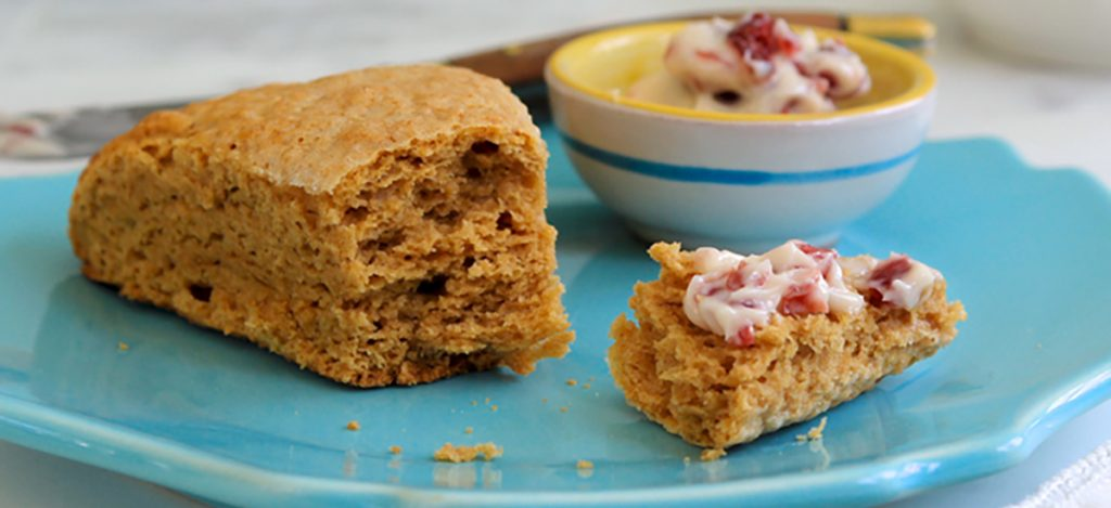 Peanut Scones with Whipped Cranberry Butter