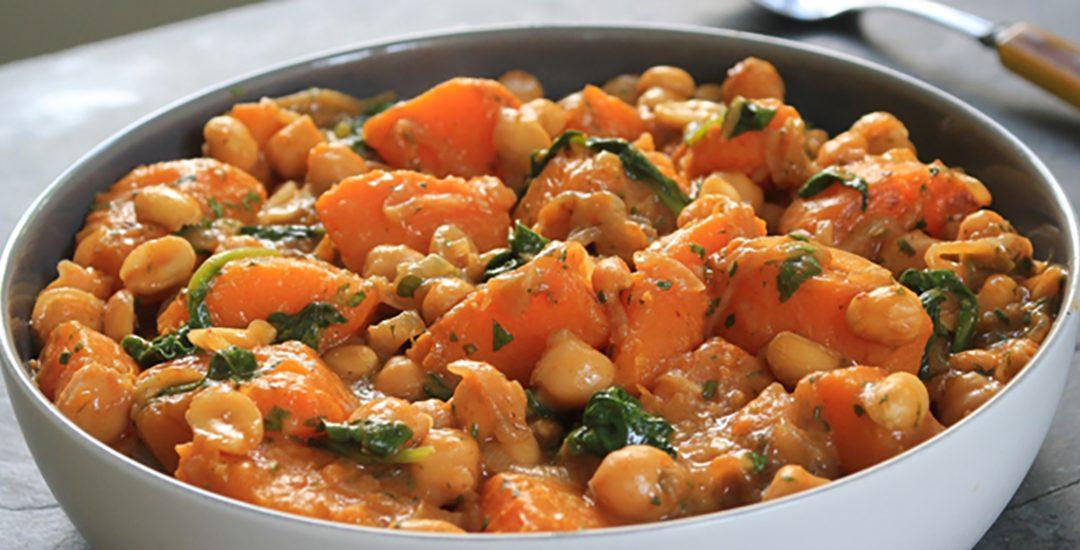 Squash-Peanut Coconut Curry