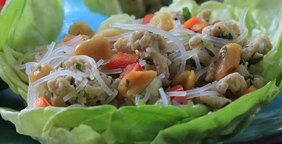 Thai Chicken and Peanut Lettuce Cups