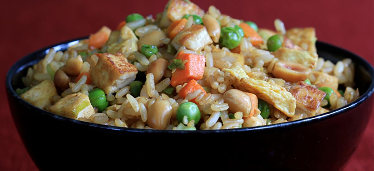 Tofu and Peanut Fried Rice