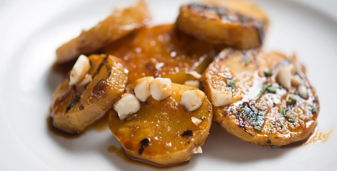 Grilled Sweet Potatoes with Molasses Glaze
