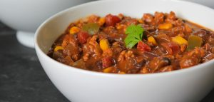 Peanutty Oaxacan Flavored Turkey Chili