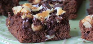 Rocky Road Brownies with Peanuts