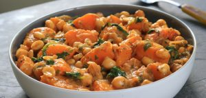 Squash-Peanut Coconut Curry