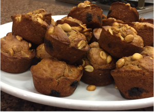 Black N' Blueberry Muffins with Peanuts
